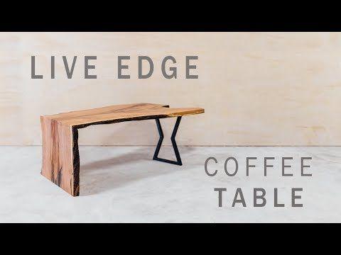 1 Modern Live Edge Waterfall Coffee Table Build Youtube