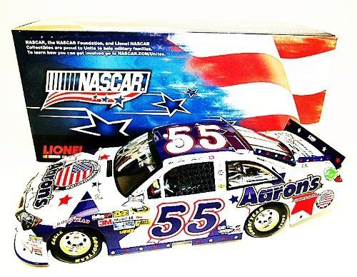 *AUTOGRAPHED* 2012 Mark Martin #55 Aaron's Dream Machine NASCAR UNITES (Patriotic) 1/24 Lionel NASCAR Diecast by Trackside Autographs. $189.95. For your viewing pleasure: *AUTOGRAPHED* 2012 Mark Martin #55 Aaron's Dream Machine NASCAR UNITES (Patriotic) 1/24 Lionel NASCAR Diecast. (#139 only 696 produced!)  This beautiful car has been hand-signed by Mark in silver on the windshield through a well-respected member of Global Authentication. You will receive a Certificate of Auth...