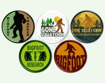 Bigfoot Birthday Party Bigfoot Pinback Buttons by ButtonBlitz