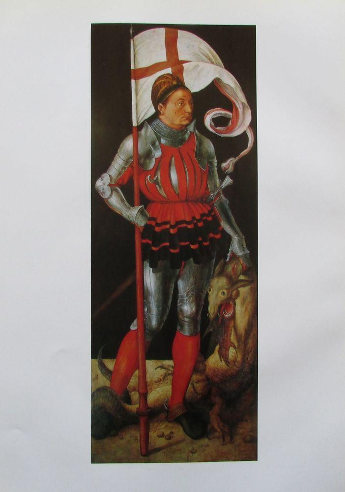 ALBRECHT DÜRER DER HEILIGE GEORG Kunstdruck