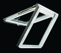 Velux GPU M06 0059 - Timber core, white polyurethane finish, toughened outer pane, U value 1.4W/m2k.