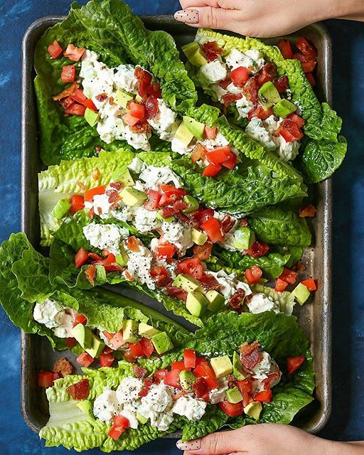 Greek Yogurt Chicken Salad Lettuce Wraps via @feedfeed on https://thefeedfeed.com/damn_delicious/greek-yogurt-chicken-salad-lettuce-wraps