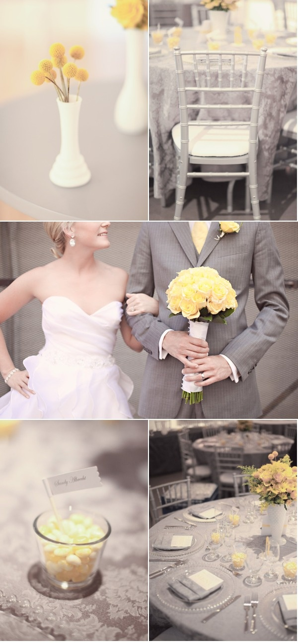 @Phillipa Howard Goorah Howard Goorah Howard Goorah Edmiston Yellow and grey wedding! ^_^