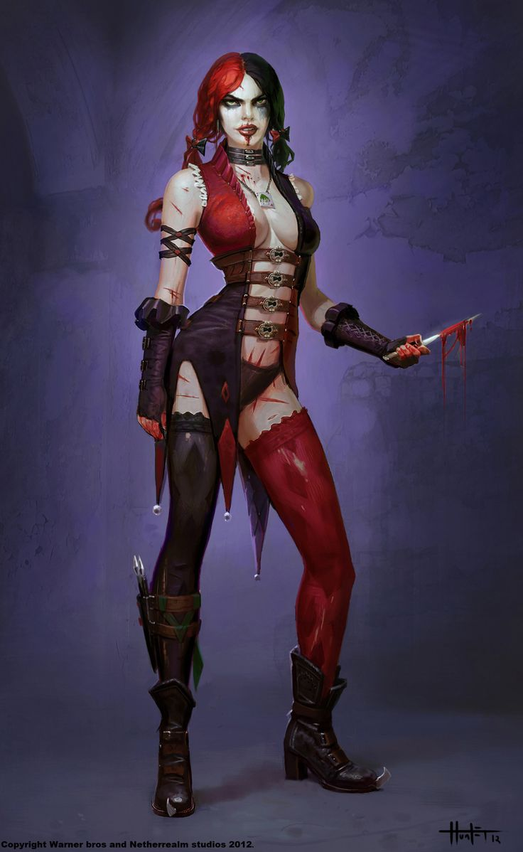 Lauxanh.LS quanbhvn 20 Injustice: Gods Among Us Concept Art by Hunter Schulz, Harley Quinn