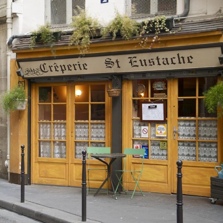 Paris cafe...and more yellow: Ahhhh Paris, Paris Cafe And, Paris Creperie, Paris France, Paris Cafes