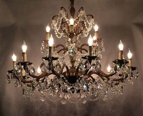 Transforming an Antique Brass Chandelier into a Masterpiece – Crystal Prism World