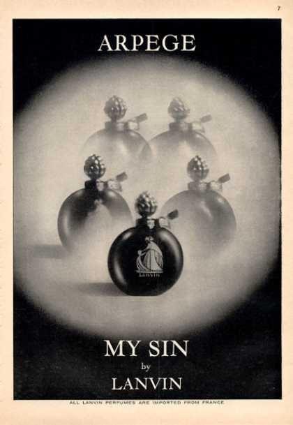 Lanvin My Sin Perfume Arpege Bottle (1964)