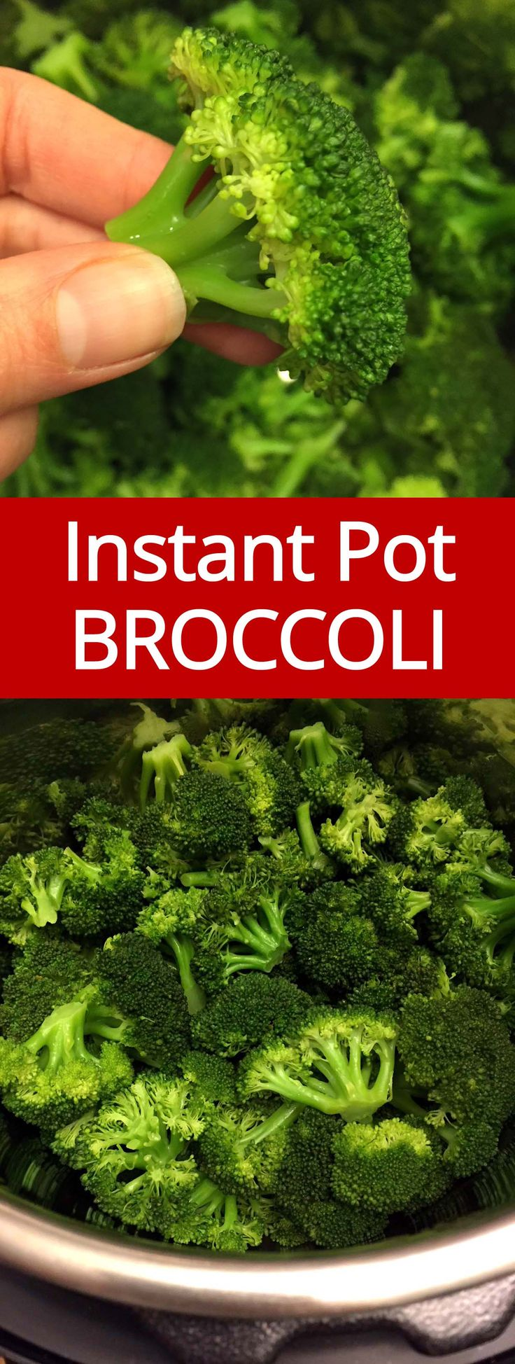 Instant Pot makes steamed broccoli in 2 minutes! I love Instant Pot Broccoli, so crispy, healthy and yummy!