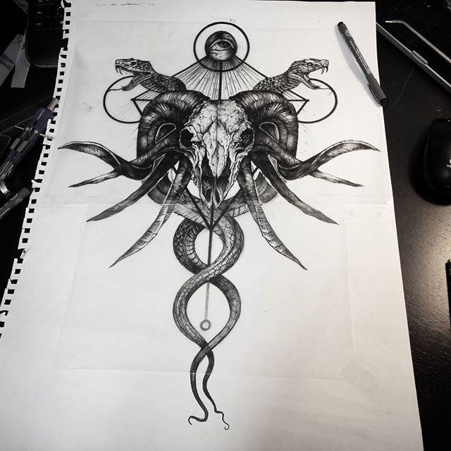 Satanic tattoos the image kid has it for Satanic tattoo designs