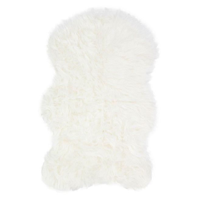 Bundchen Tapis imitation fourrure 60x90cm blanc