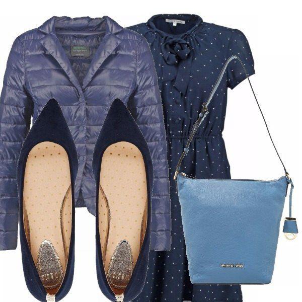 Questo vestitino a pois è davvero molto delizioso e ora è in saldo!!! Io consiglio di abbinarlo ad un piumino blu, delle ballerine in tinta ed una borsa a tracolla di una tonalità più chiara.