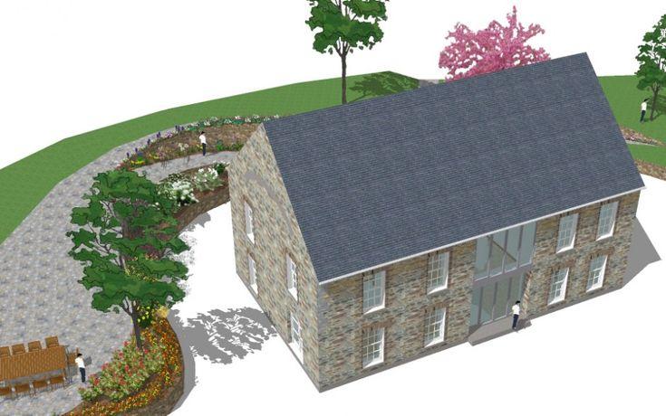 new build house design landscape