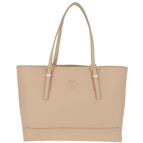 Tommy Hilfiger Handle Bag - Honey Solid Medium Tote Beige - in beige -... (210 AUD) ❤ liked on Polyvore featuring bags, handbags, tote bags, beige, tommy hilfiger tote, beige purse, tommy hilfiger, tommy hilfiger handbags and top handle handbags