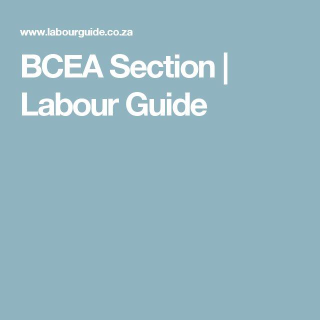 BCEA Section | Labour Guide