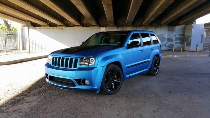 Jeep Grand Cherokee 3M Matte Metallic Blue Vinyl Wrap