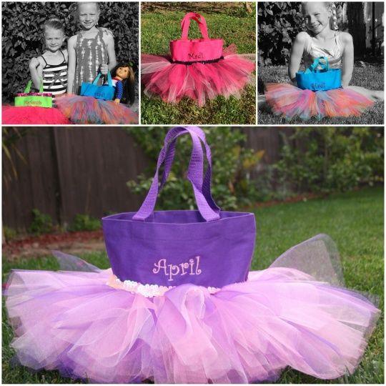 Handmade Personalized Tutu Tote Bags