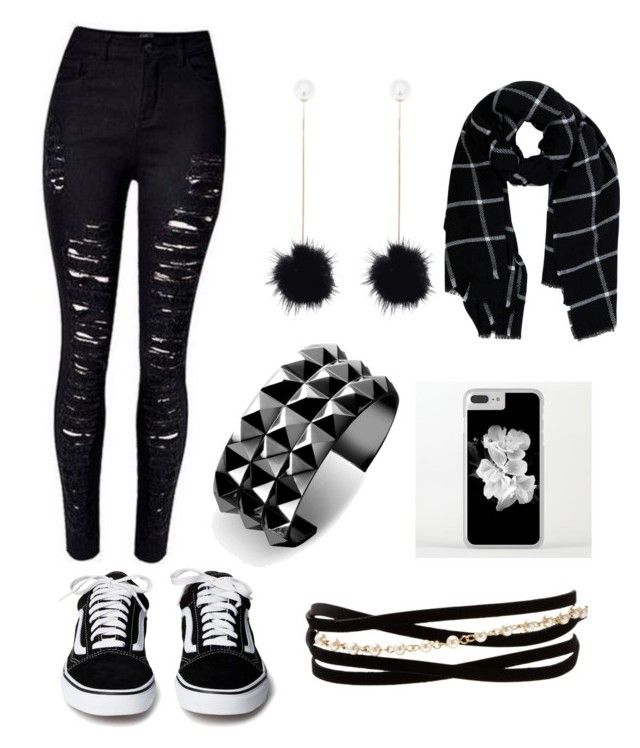 """monochrome"" by margoucha ❤ liked on Polyvore featuring Waterford, Kenneth Jay Lane and Warehouse"