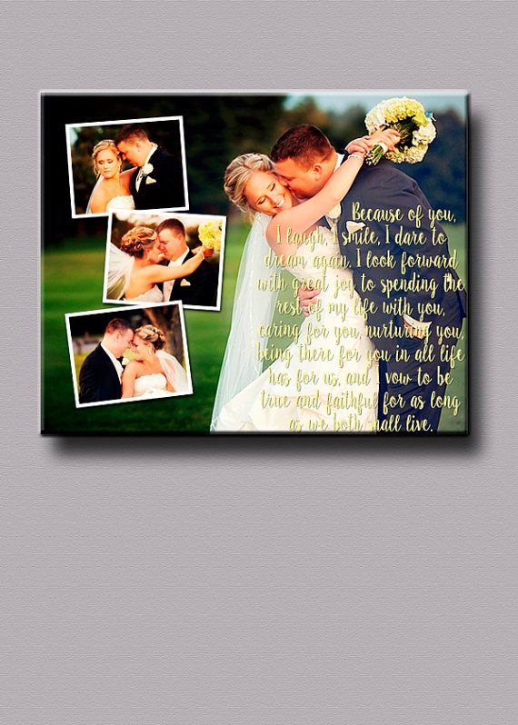 Custom Wedding Vows over Pictures collage by CanYouPictureIt