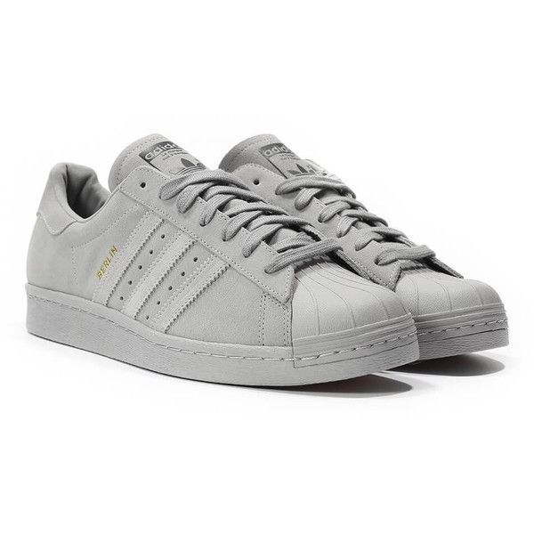 Adidas Superstar 80s City Pack Berlin ❤ liked on Polyvore featuring shoes and sneakers
