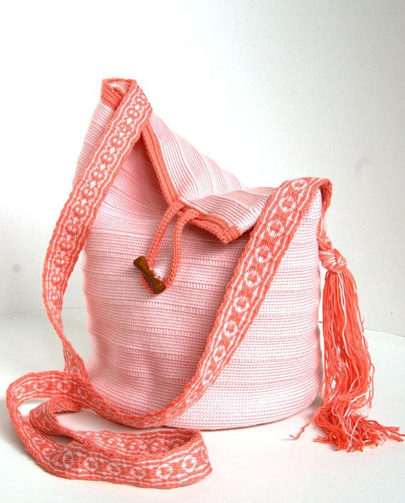 Crochet crossbody shoulder bag