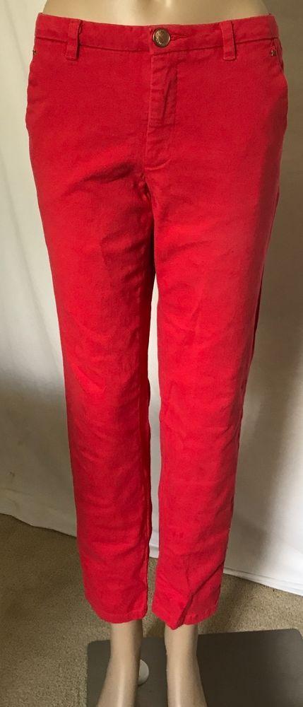 Gibson & Latimer Stretch Coral Women's Skinny Pants Sz 10 #GibsonLatimer #Skinny
