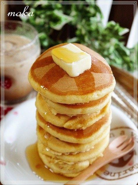 *。ふわふわ強力粉パンケーキ。* by ☆moka★ [クックパッド] 簡単おいしいみんなのレシピが225万品