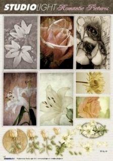 Romanttiset Leikekuvat, Liljat ja ruusut, A4-arkki