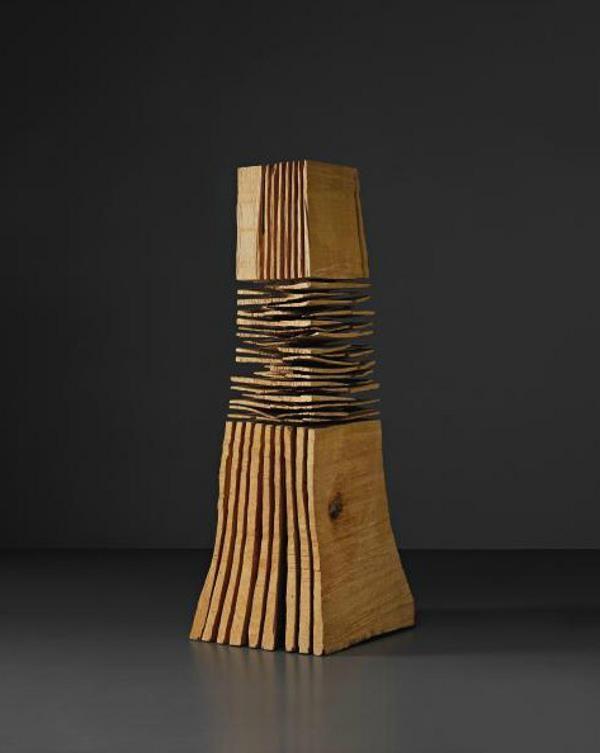 DAVID NASH Skirted Beech, 1986 Beech wood. 210 x 109 x 46cm (825/8 x 427/8 x 181/8 in)