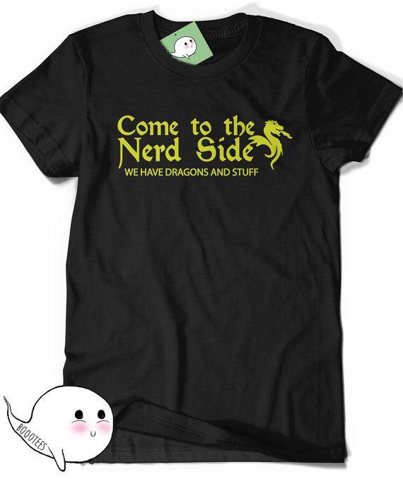 Funny Shirt Geek Dragon Shirt Adult Womens Mens Gift Ideas for Boyfriend Girlfriend Present Geeky Nerdy Geekery RPG Role Player Larping Girl