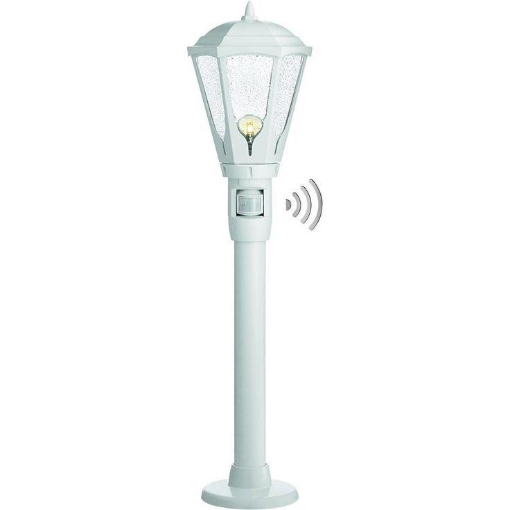 Lampadaire extérieur avec détecteur de mouvements Steinel GL 16 S 100 W blanc 1 m