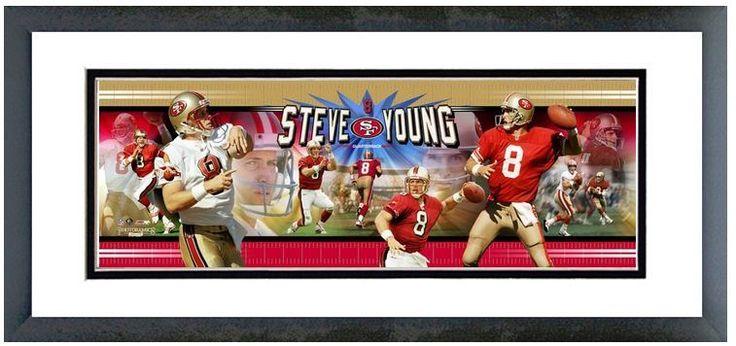 "Steve Young San Francisco 49ers Quarterback - 18.5"" x 42.5"" Framed Photoramic"