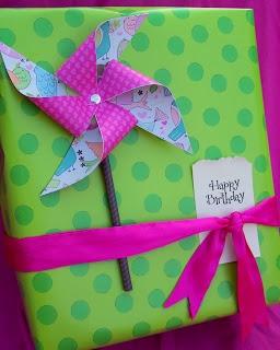 Gift Wrap:  Pin Wheels Turnin'