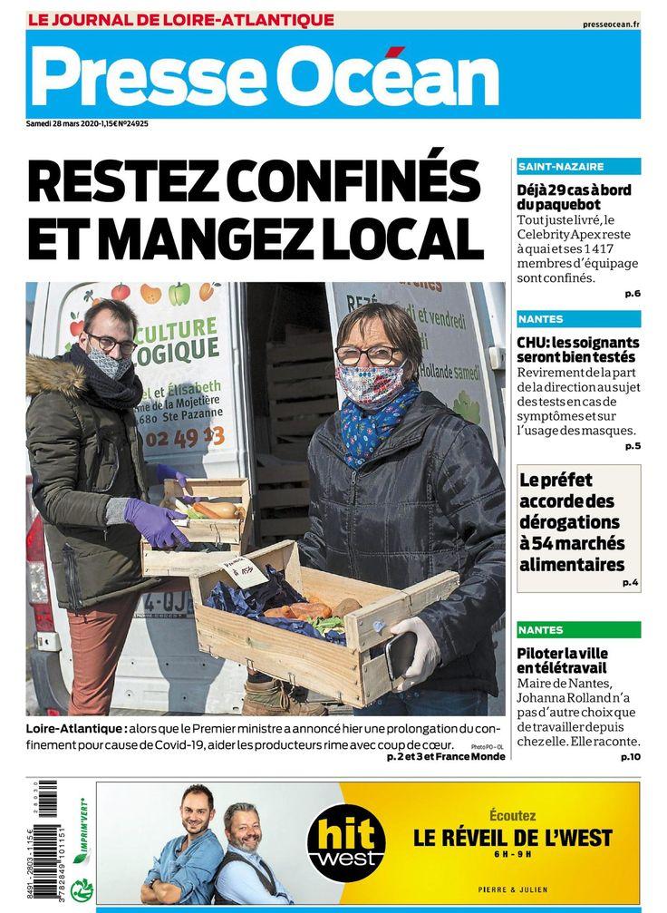 Kiosque PresseOcéan édition de Nantes du samedi 28 mars