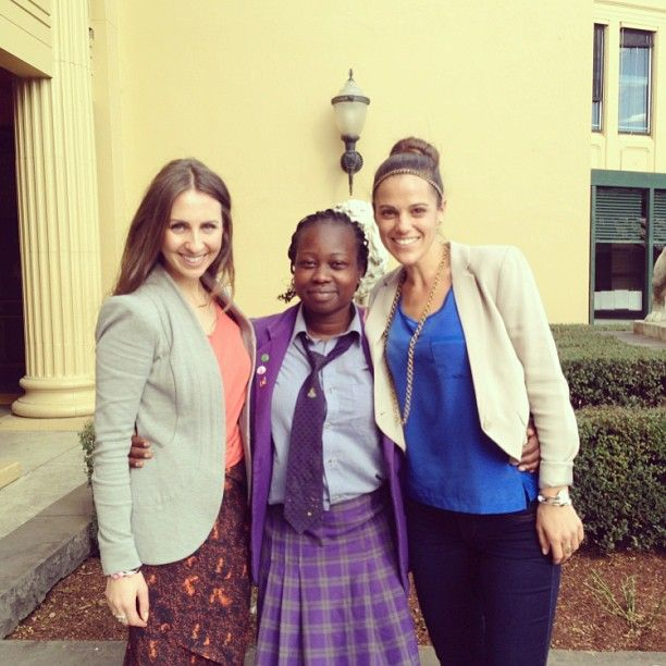 We visited the year 10 & 12 girls at Wesley College to talk about #oneforthegirls. This is Akot, she's super passionate about the cause!