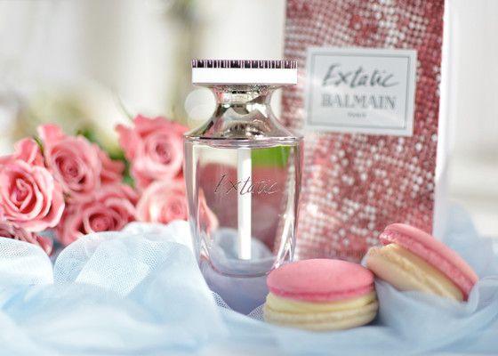 Balmain Extatic EDT pink - something sweet, something sexy  #Balmain #Extatic #pink #perfume #macaroons #roses #beauty #blog