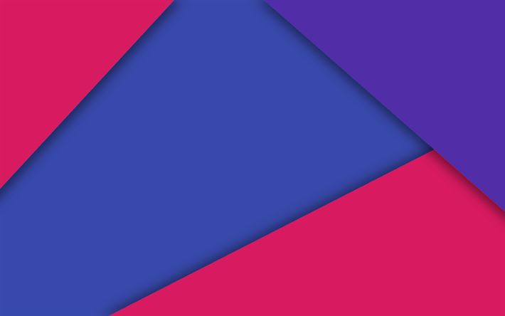Download Wallpapers Android Red And Blue Lines Lollipop Strips Geometric Shapes Material Design Creative Geometry Dark Background