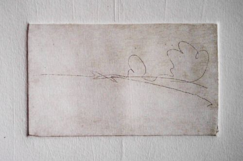"Laura Kozma: LITLLE LANDSCAPE (etching)  ...because it was an ""one-line-drawing"" challange"