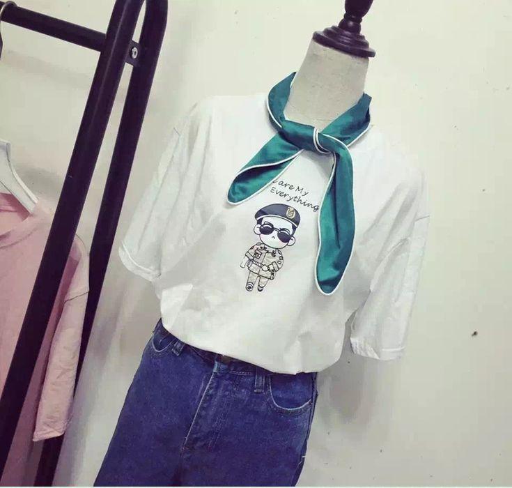 Tシャツ/半袖/tシャツ/プリント/ポップ/ロゴ/カジュアル/トップス/レディース-1