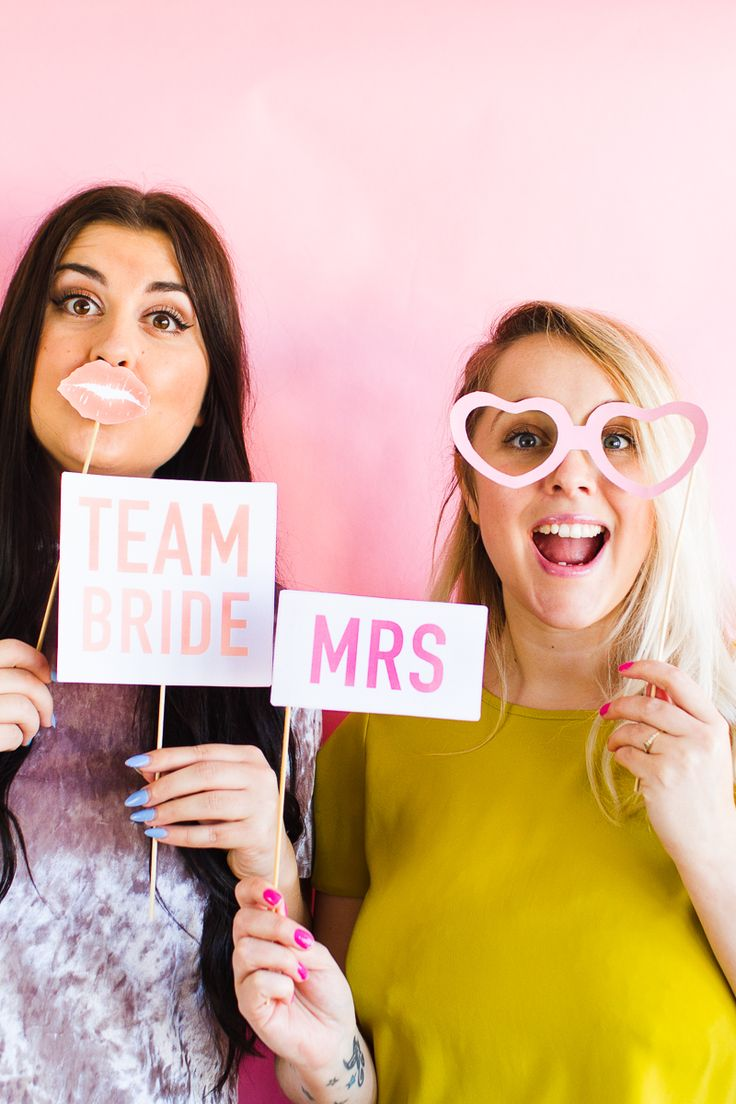 PRINTABLE BRIDAL SHOWER PHOTO BOOTH PROPS HEN PARTY BACHELORETTE MODERN PRINTABLES