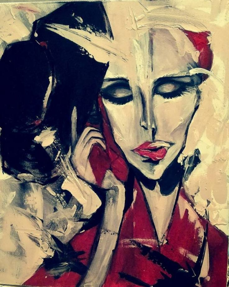 """""""MINHA"""" by Iulia Sirbu Original painting 60x70x3cm, acrylics on stretched canvas (wooden frame), available for sale"""
