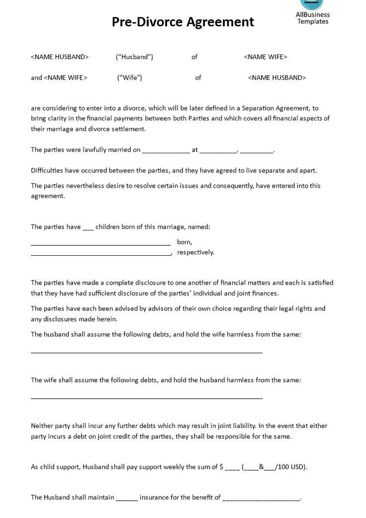 The 25 best ideas about Divorce Agreement – Sample Child Support Agreement Template