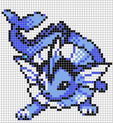 Vaporeon is my favorite pokemon!!! Gotta try this idea for a blanket!