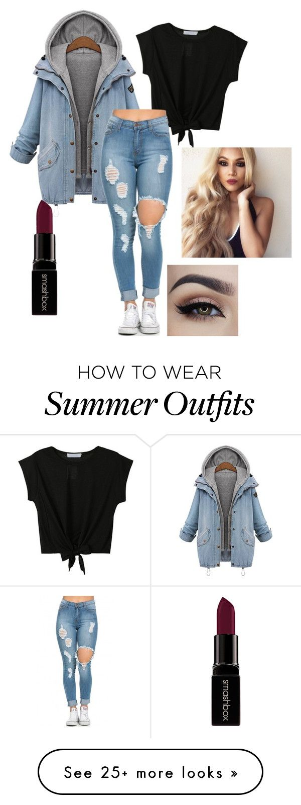 """My First Polyvore Outfit"" by kluck-k on Polyvore featuring Smashbox, women's clothing, women, female, woman, misses and juniors"
