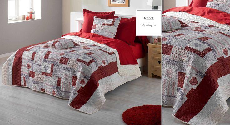 Francúzske prehozy s potlačou | Prehoz na posteľ s potlačou Montagne | Bytový textil a dekorácie | dekorstudio.sk