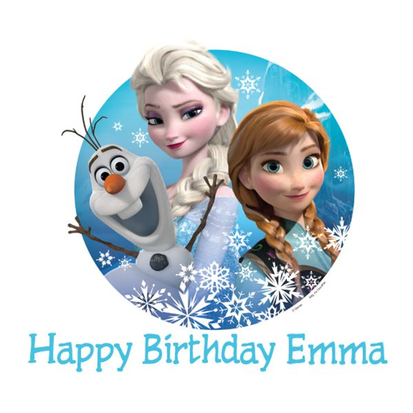 edible picture of anna elsa and olaf | Disney Frozen Olaf, Elsa, and Anna Edible Image Cake Decoration