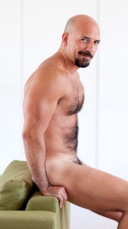nude hairy bald guys