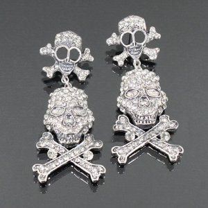 Rhinestone Double Pirate Earrings Re5655-e3626 Arif's Collection. $25.85. Earrings
