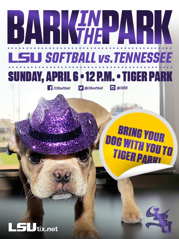 """LSU Softball - """"Bark in the Park"""" Ticket Promotion"""