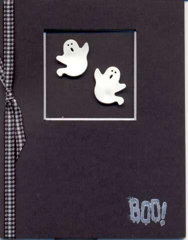 Boo! Polyshrink Ghost Card