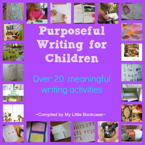 Purposeful Writing for Children - over 20 meaningful writing activities